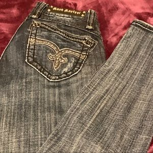 Rock Revival skinny jeans almost like new size 27